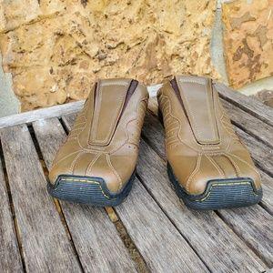 Dr. Martens Shoes - Dr Martens Sz 41 brown leather slip on Mules sz 8